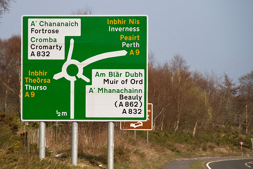 Scottish Gaelic roadsigns
